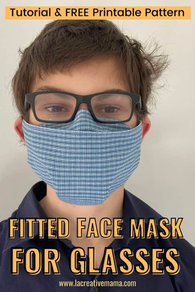 fitted face mask free pattern