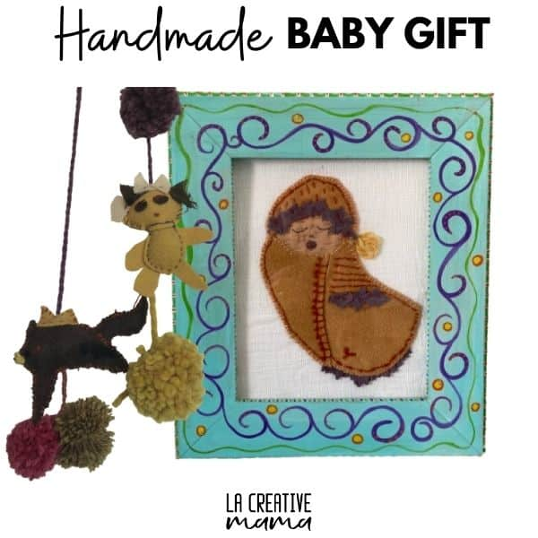 handmade baby shower baby gift made with  simple patterns