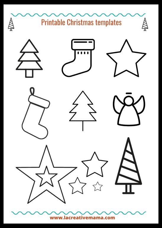 adhesive felt Christmas templates for kids
