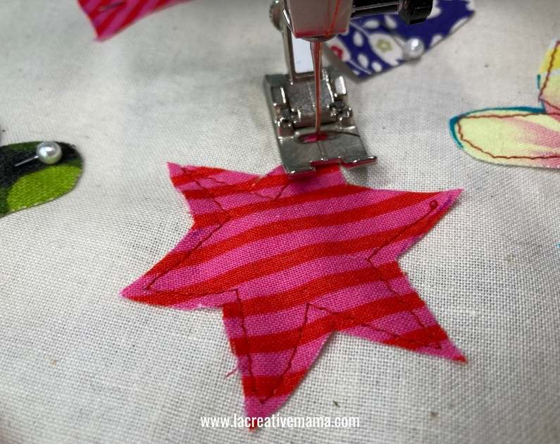 fabric star applique