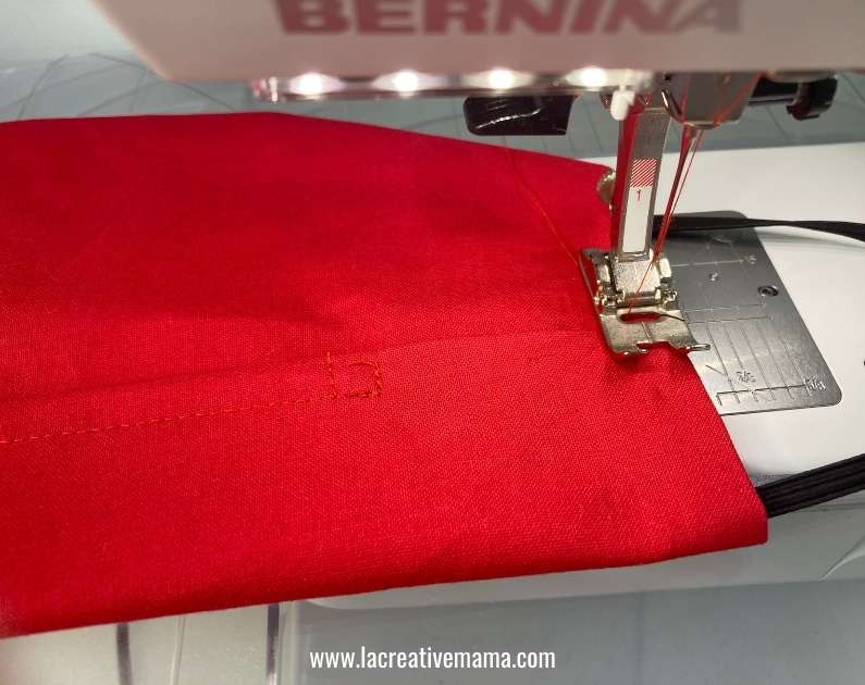 sewing a fitted face mask