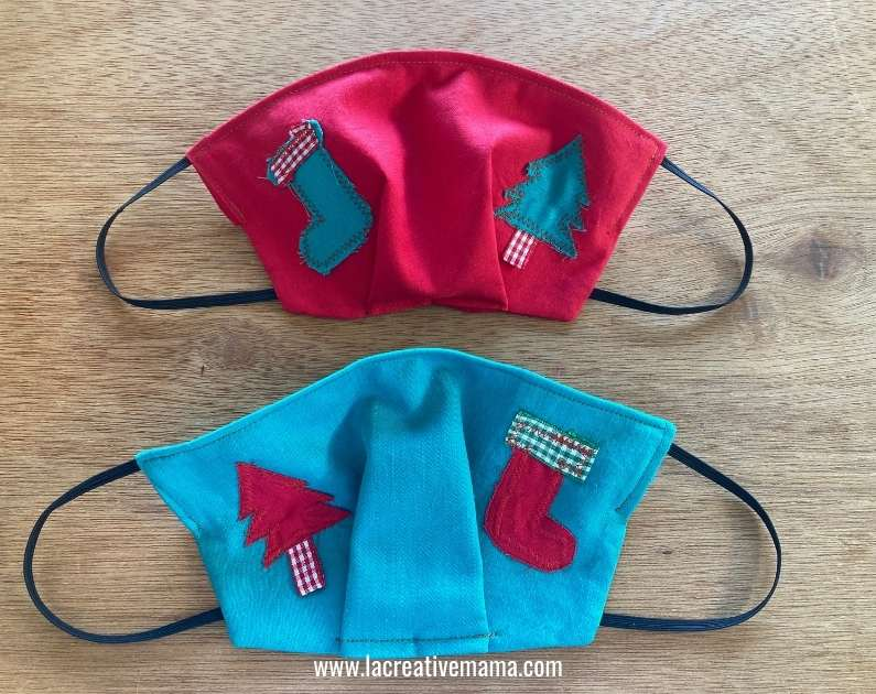 applique fitted face mask
