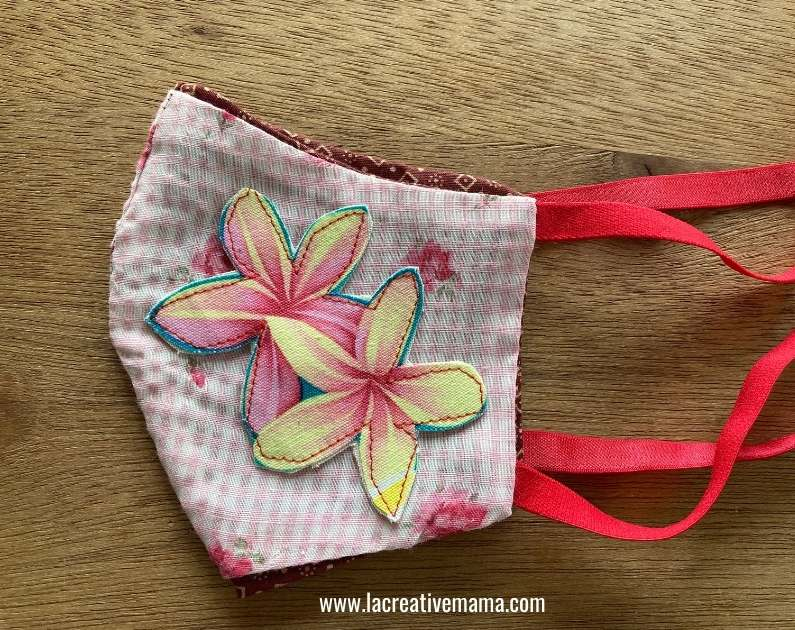 face mask with applique