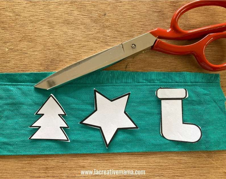 Christmas fabric applique for face mask