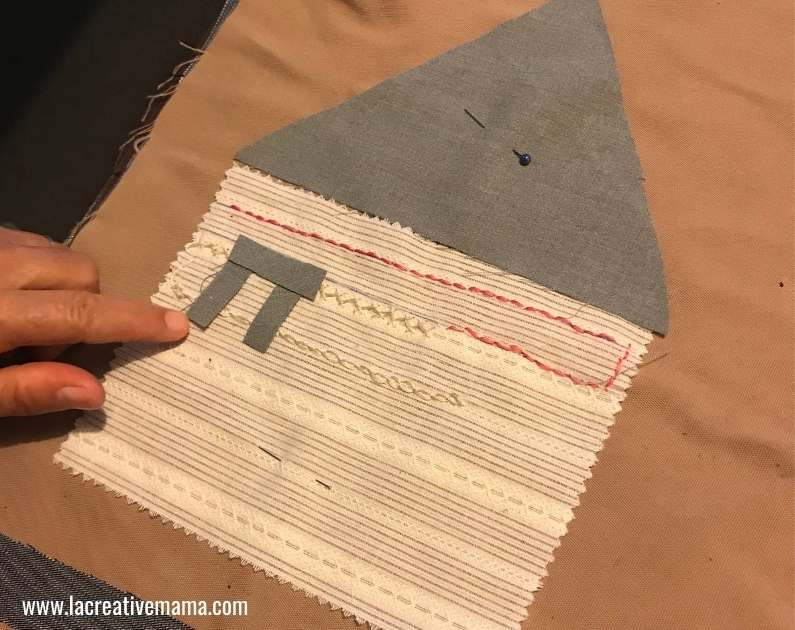 fabric collage tutorial , cutting the applique patterns