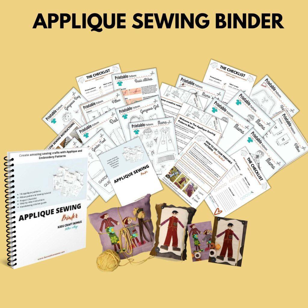 applique sewing binder la creative mama