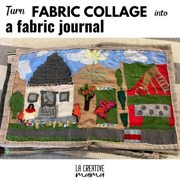fabric collage pages that make a wonderful fabric book. all sewn by hand using basic embroidery stitches.