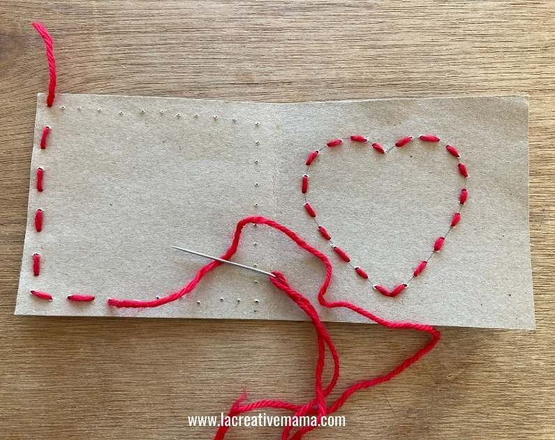 valentines card for kids tutorial 6