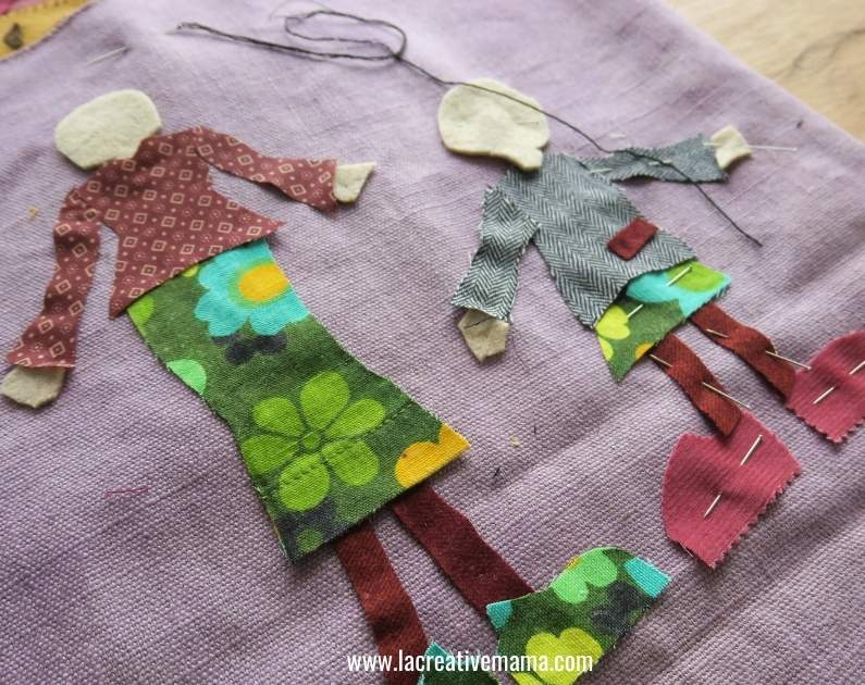applique patterns cut on fabric and used as appliques to be embroidered on
