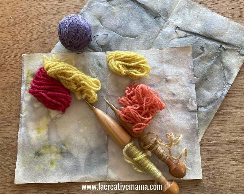 eco printed paper using natural dyes