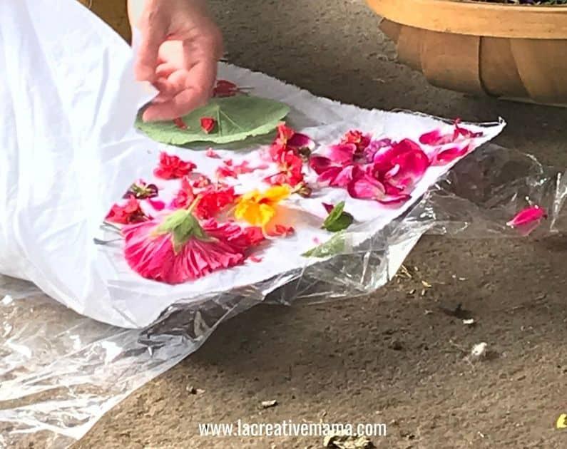 hapazome tutorial flower pounding