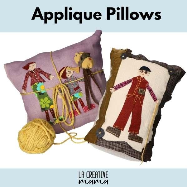 applique pillows la creative mama