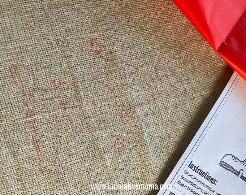 how to transfer an image onto embroidery fabric