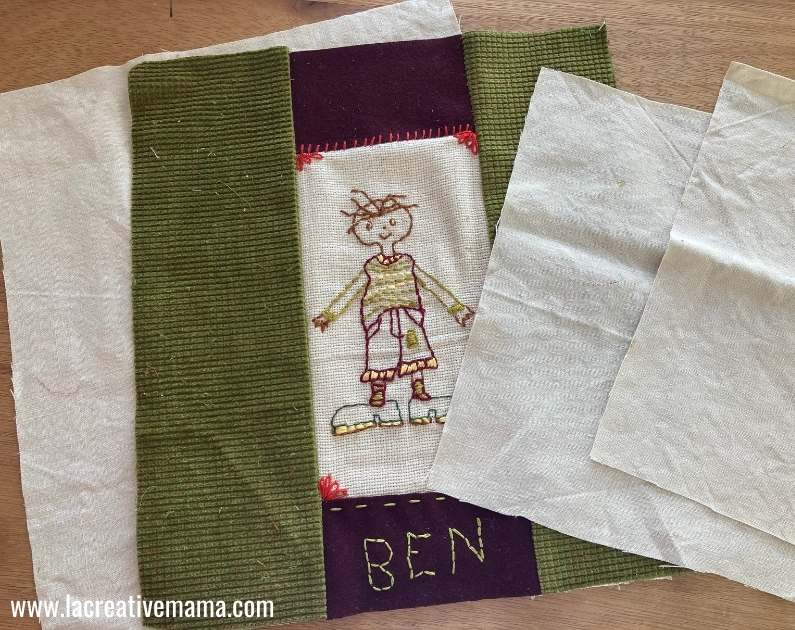 sewing an embroidered envelope pillow