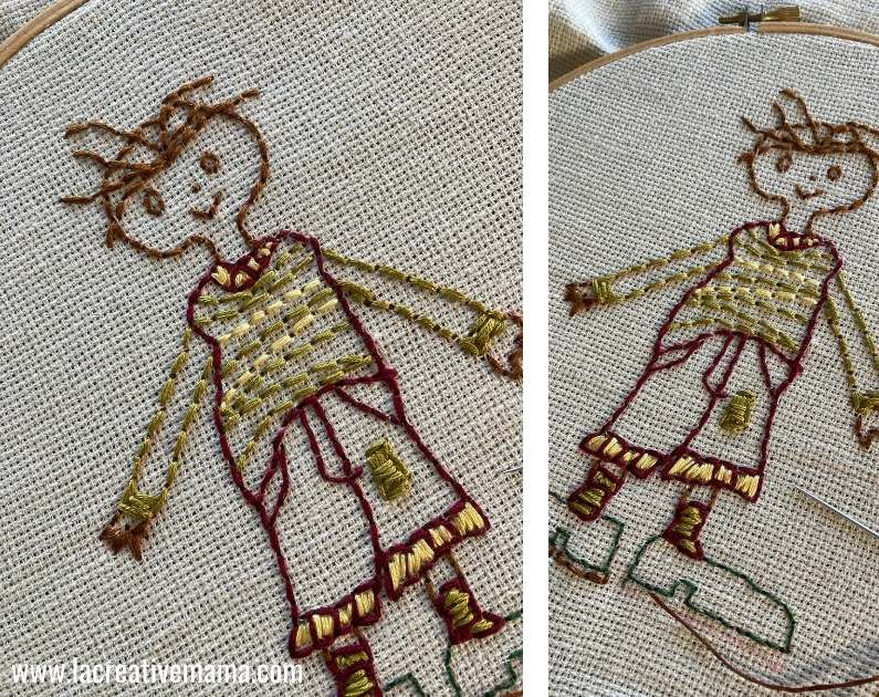 embroidery pillow tutorial