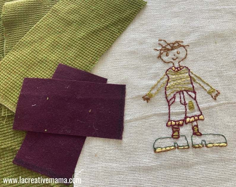 making the embroidered pillow tutorial 2