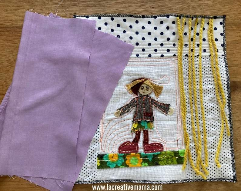 how to make a quilted pillow for girls tutorial 21