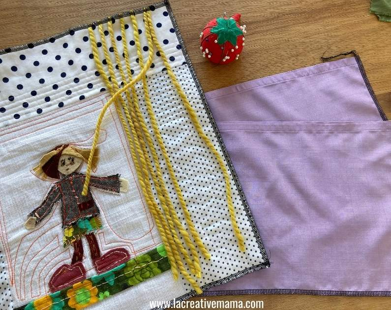 how to make a quilted pillow for girls tutorial 24
