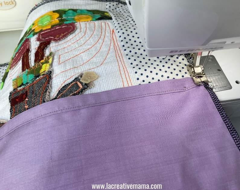 how to make a quilted pillow for girls tutorial 26