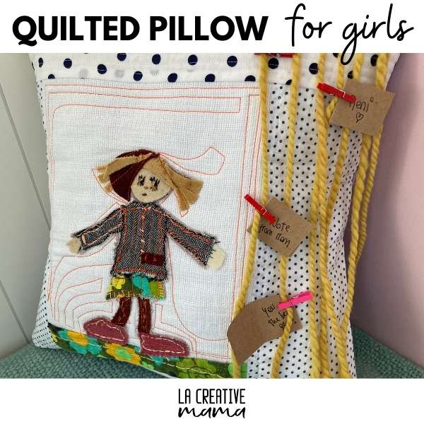 how to make a quilted pillow for girls tutorial