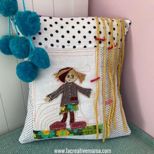 quilted pillow tutorial for girls