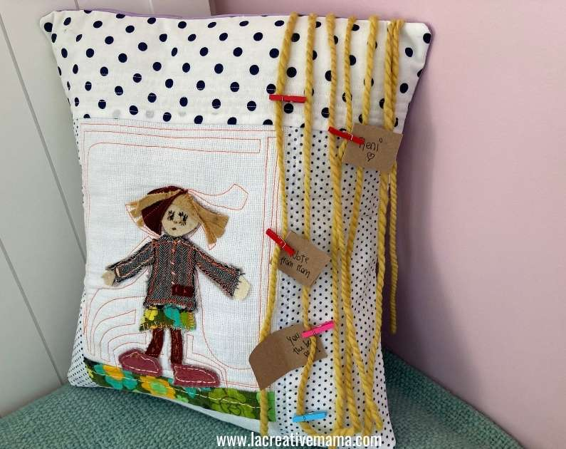 applique pillow for girls room. make your own diy pillow