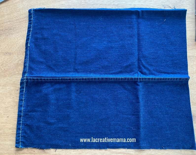 flat denim fabric from the old upcycled jeans
