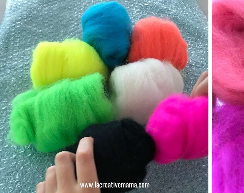 wool roving from New Zealand wool