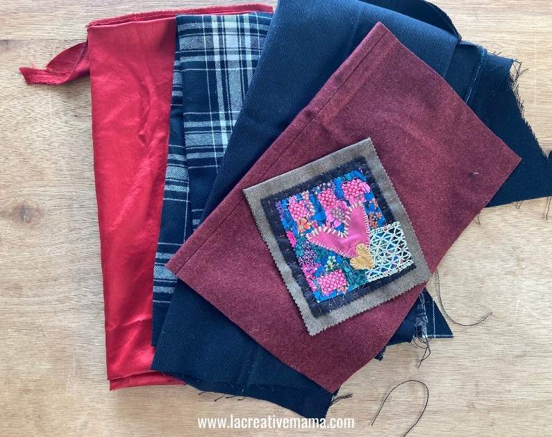 easy sewing project. getting the fabric ready to sew a reversible bag