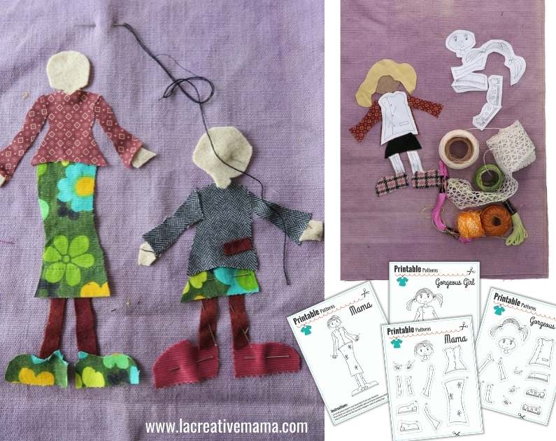 how to make embroidered patches . La Creative mama sewing applique templates