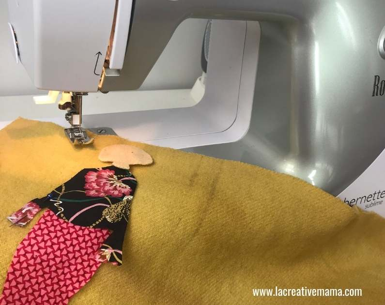How to make embroidered patches with a sewing machine 5