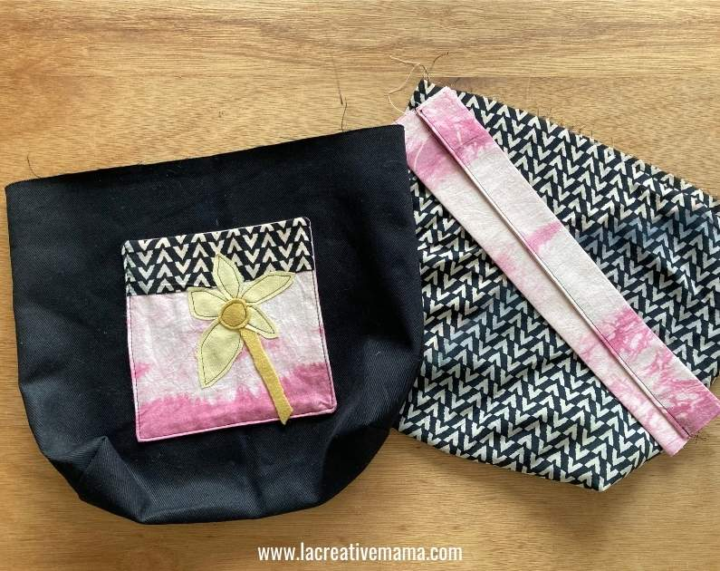 making and sewing the folding grocery bag pattern