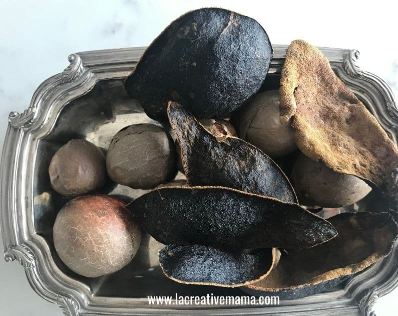 dried avocados , this is a great way of storing avocados for dyeing later