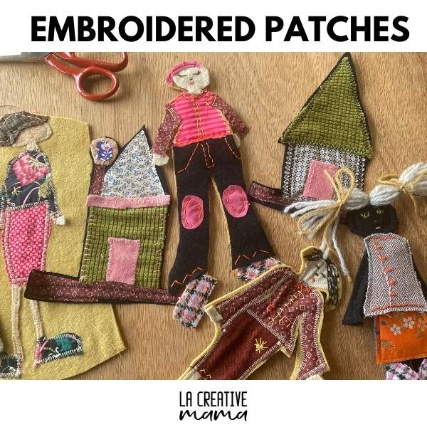 how to make DIY embroidered patches tutorial