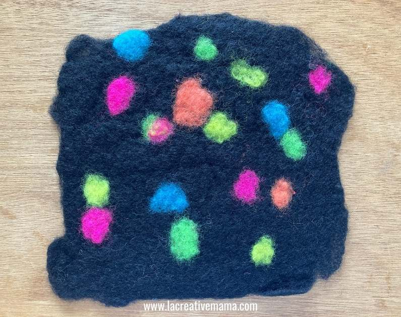 wet felted fabric