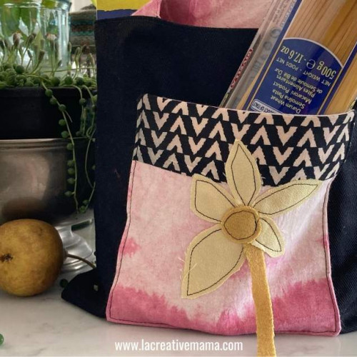 foldable grocery bag tutorial