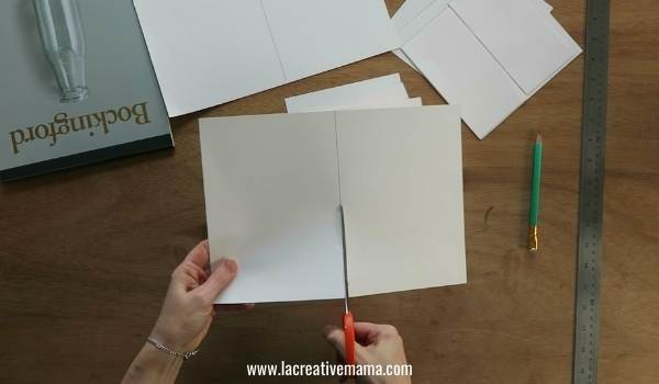 cutting the watercolor paper for eco printing