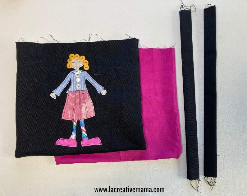 attaching the handles and the lining to a tote bag tutorial