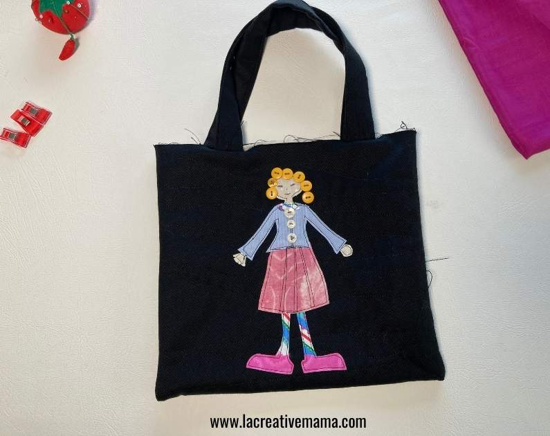 attaching the handles to a tote bag tutorial