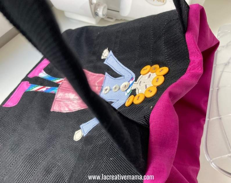 sewing tutorial for a quilted applique tote bag