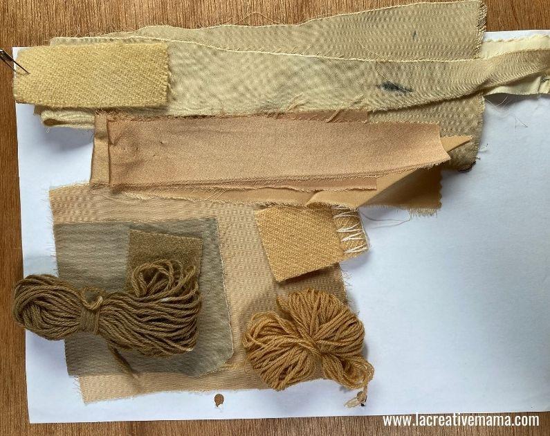 eucalyptus dyed fabric and yarn