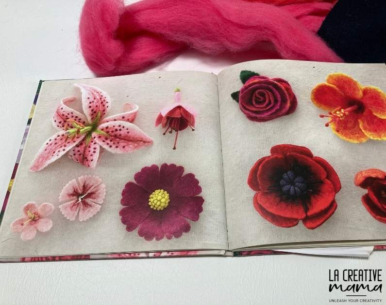 Felting Fabulous Flowers, by Gillian Harris great book with flower templates to make felted flowers