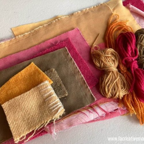 hand dyed fabric and yarn using natural dyes