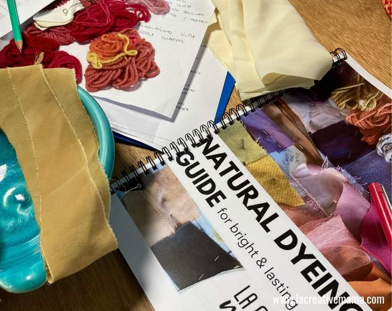 The Natural dyeing guide from la creative mama