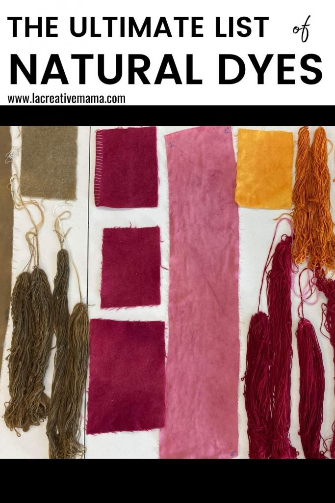 the ultimate list of natural dyes