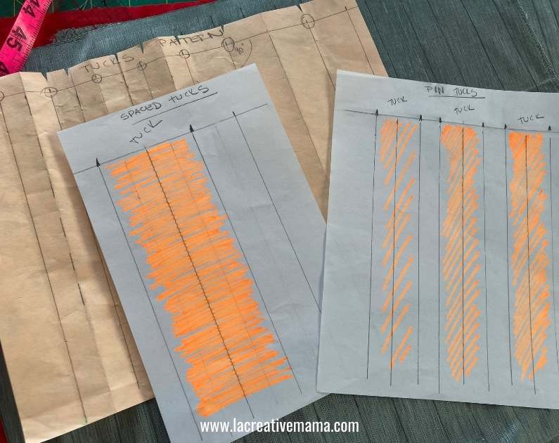 patterns for making tucks on fabric