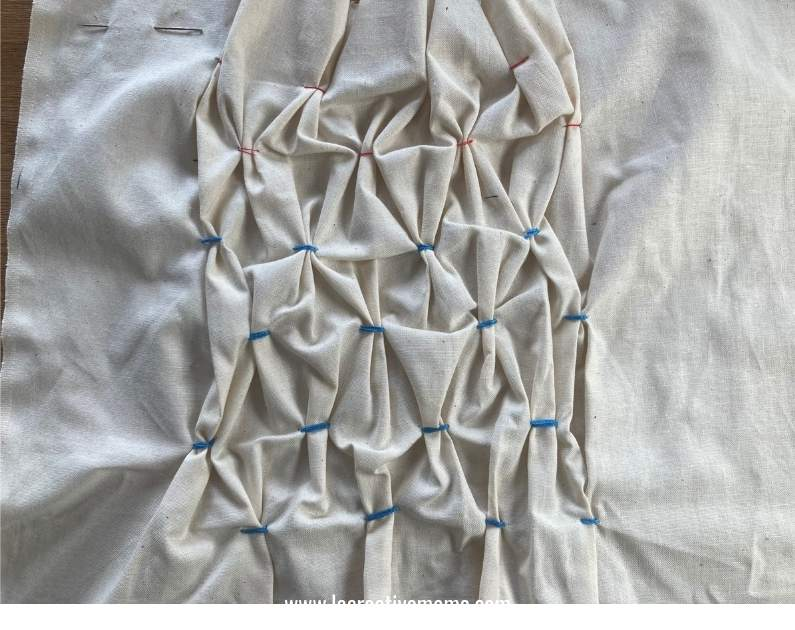 manipulating fabric using smoking