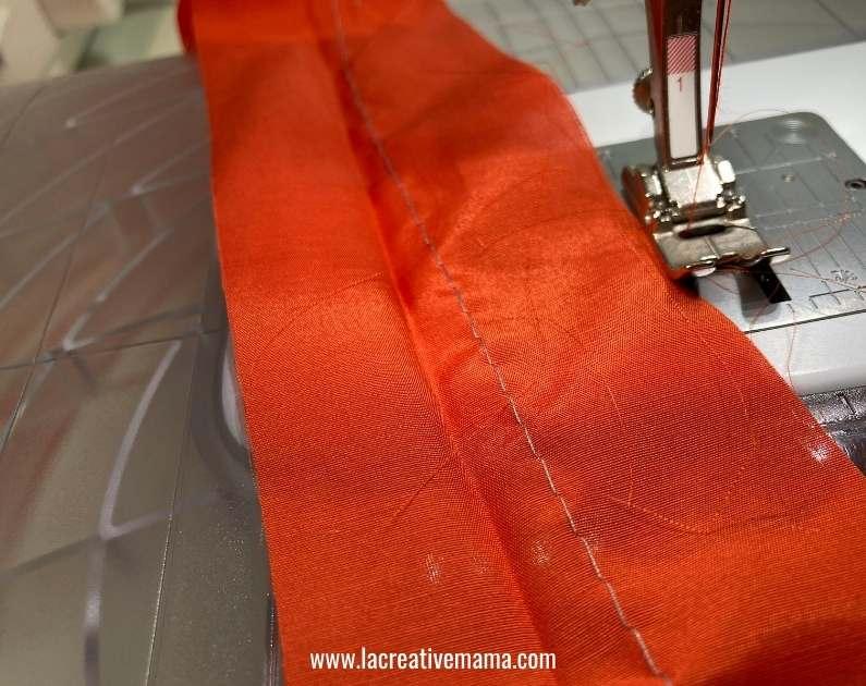 making ruffles by gathering fabric